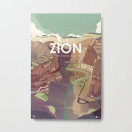 Alone in nature - Zion - Utah Metal Print