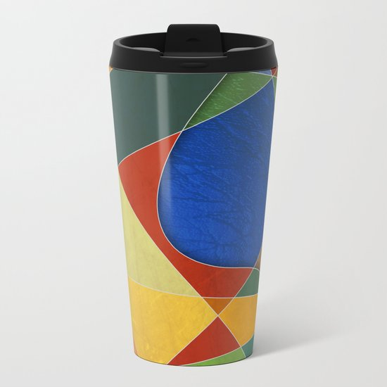 Abstract #329 Metal Travel Mug