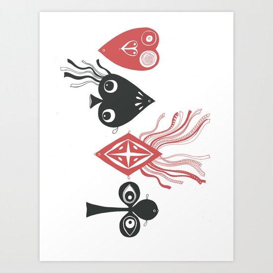 The Gambling Pool Art Print