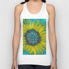 Sunflowers on Turquoise II Unisex Tank Top