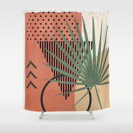 Nature Geometry II Shower Curtain