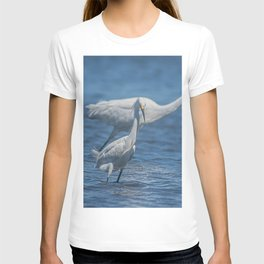 Snowy Egret and Great Egret T-shirt