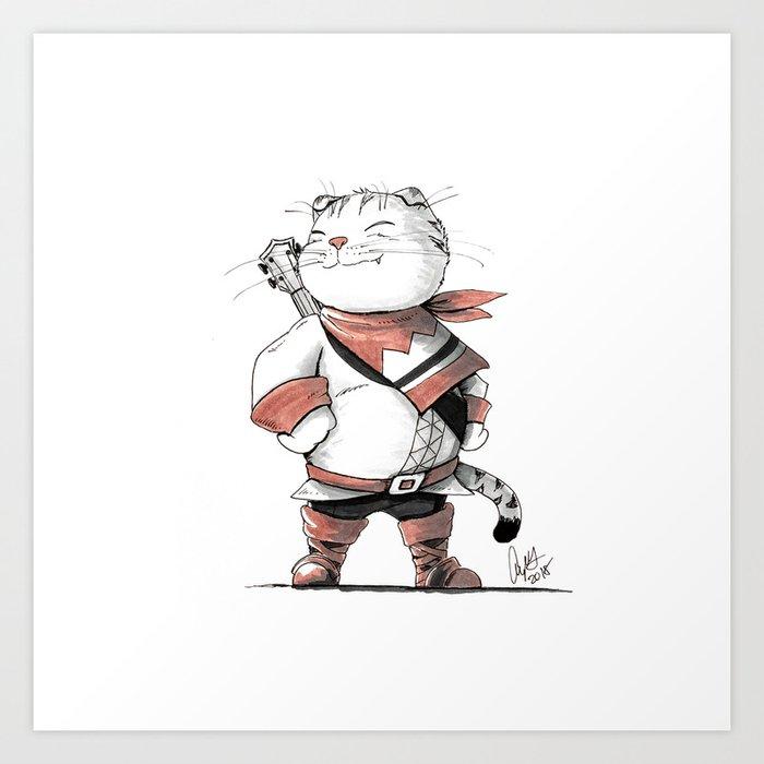 Bard Scottish Fold Cat Art Print