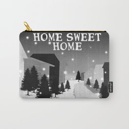 Hot Air Balloon Home Sweet Home snowy little town night stars and moon home decor Christmas spirit Carry-All Pouch