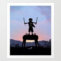 Robin Kid Art Print