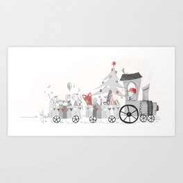 Magic Christmas Art Print