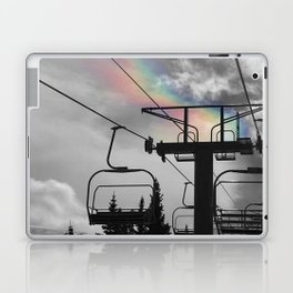 4 Seat Chair Lift Rainbow Sky B&W Laptop & iPad Skin