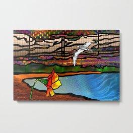 Doodlage 01 - As the seagull flies Metal Print