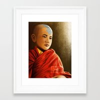 aang Framed Art Prints featuring Avatar Aang by Jamie Williams