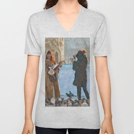 Feeding Fun Tower Of London Unisex V-Neck