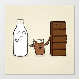 Milk + Chocolate Canvas Print