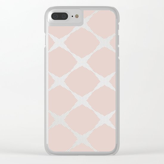 Polka Dots & Pink Tiles Clear iPhone Case