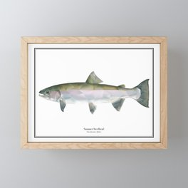 Summer Steelhead - Polygon Fish Series Framed Mini Art Print