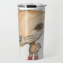 NORDIC ANIMAL - DEDE THE  DEER / ORIGINAL DANISH DESIGN bykazandholly Travel Mug