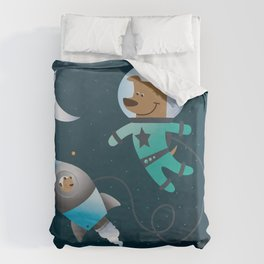 Space Dog Duvet Cover