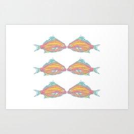 fish little kissing Art Print
