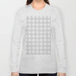 Saxon blue gingham. Long Sleeve T-shirt