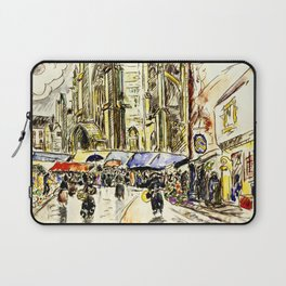 "Paul Signac ""Tréguier, le marché"" Laptop Sleeve"