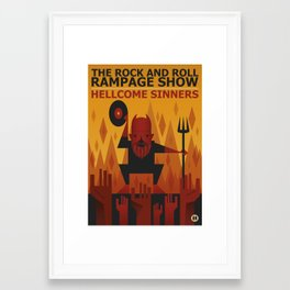 The Rock and Roll Rampage Show Framed Art Print