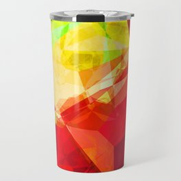 Mixed Color Poinsettias 2 Abstract Polygons 1 Travel Mug