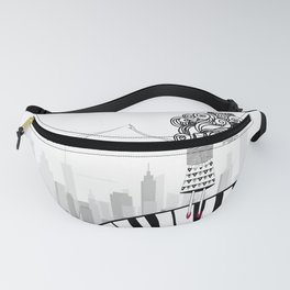 Piano. Decoration. Girl. Gift. Vonyage Fanny Pack
