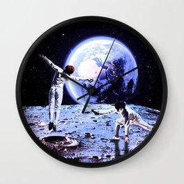 Moon fencing Wall Clock