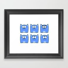 Cat Expressions Framed Art Print