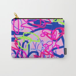 Pink & Blue Wiggle Abstract Carry-All Pouch