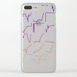 Fish tracks Clear iPhone Case