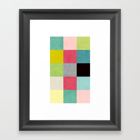 color block II Framed Art Print