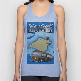 Isle Of Wight vintage retro travel poster Unisex Tank Top