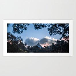 Sunset at Mount Warning, NSW Art Print