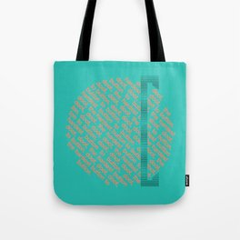 Button to button - teal & coral Tote Bag