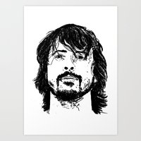 dave grohl Art Prints featuring Dave Grohl - Legend by Matty723