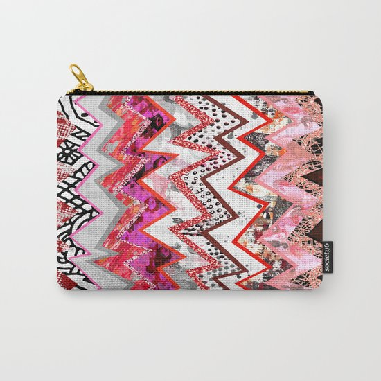 Love Heart Zigzags Carry-All Pouch