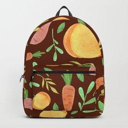 Colorful fruits & vegetable pattern Backpack