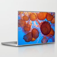 jelly fish Laptop & iPad Skins featuring Jelly Fish by Shannon McCullough-Wight