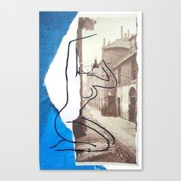 The Lady Down the Lane Canvas Print