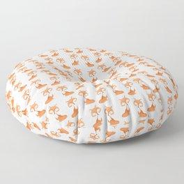 Cute fox kids illustration on white background Floor Pillow