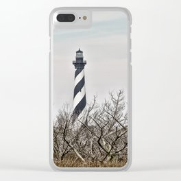 Cape Hatteras Lighthouse (Color) Clear iPhone Case