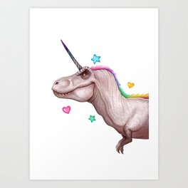 Tyrannocorn Art Print