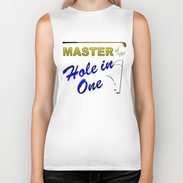 Master of The Hole In One Biker Tank