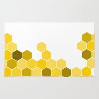 honeycomb Area & Throw Rugs featuring Honeycomb by KelC