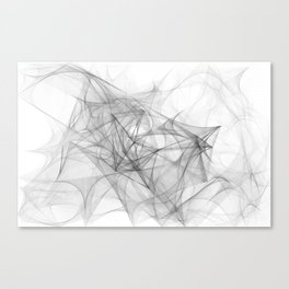 Sketching in the void Canvas Print