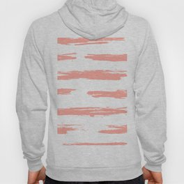 Pretty Pink Brush Stripes Horizontal Hoody