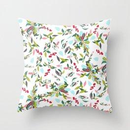 Noel Floral Throw Pillow