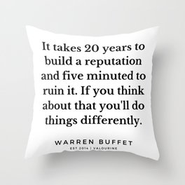 11   | Warren Buffett Quotes | 190823 Throw Pillow