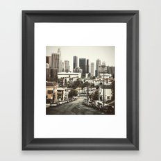 los angeles downtown Framed Art Print