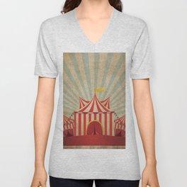 Shabby Circus Tent Retro Vintage Kitschy Unisex V-Neck