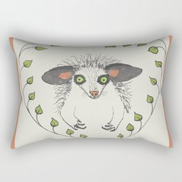 Aye-Aye Portrait Rectangular Pillow